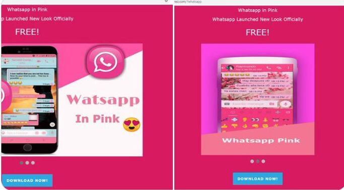 """""""WhatsApp in pink"""" o WhatsApp en rosa, el nuevo engaño que circula por las redes"""